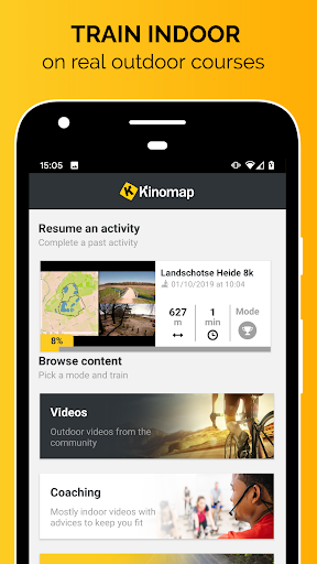 Kinomap - Indoor training videos screenshots 1