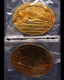 แพ็คคู่..พร้อมกัน 2 เหรียญ..สวยกริ๊บ..เหรียญพระนอน หลัง ภปร. พิธีใหญ่วัดโพธิ์ ฉลองในหลวงพระชนมายุครบ