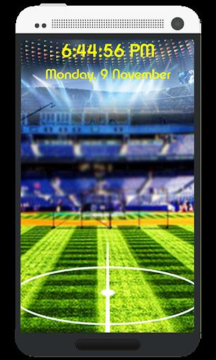 サッカーキック画面のロック