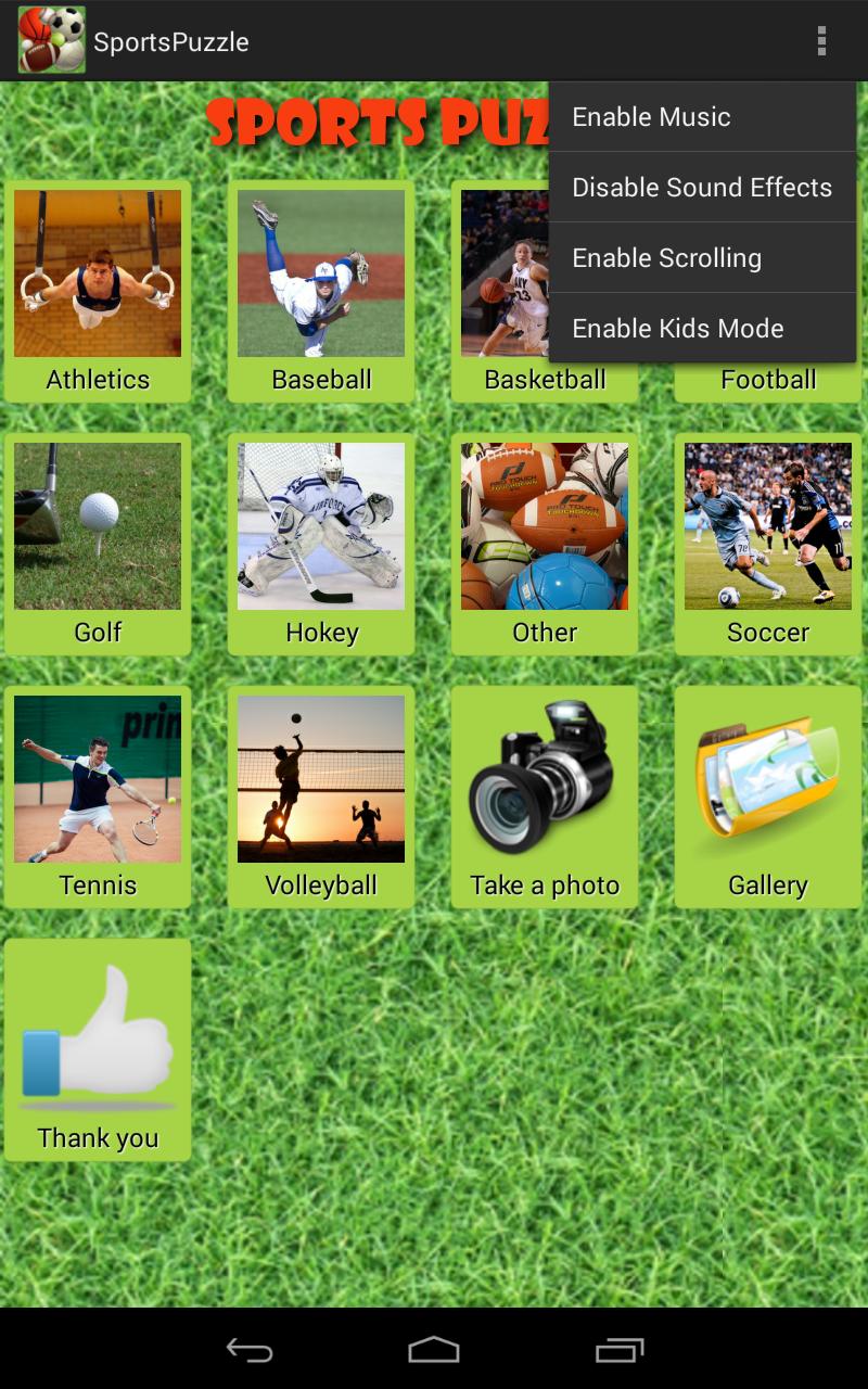 Скриншот Спорт головоломка