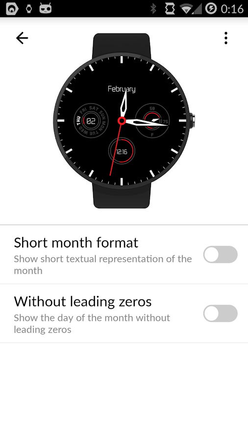 Sharp Classic Watch Face- screenshot