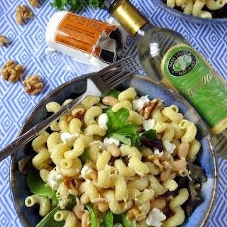 Creamy White Bean Pasta Salad with Champagne Vinaigrette