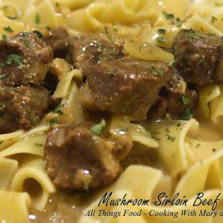 Granddad's Golden Mushroom Sirloin Beef Tips.