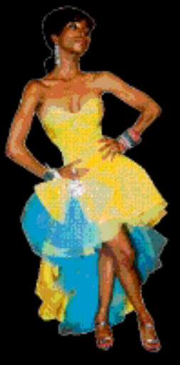 20090503 BMA Khanyi Mbau at the after party during the 15th Annual MTN South African Music Awards at the Sun City Superbowl, Rustenburg in the North West. Pic: Bafana Mahlangu. Used; Sowetan 08/10/2009 pg 19 Khanyi Mbau.