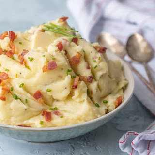 Bacon Goat Cheese Mashed Potatoes Recipe