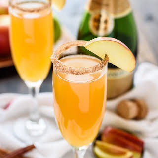 Apple Cider Champagne Cocktails.