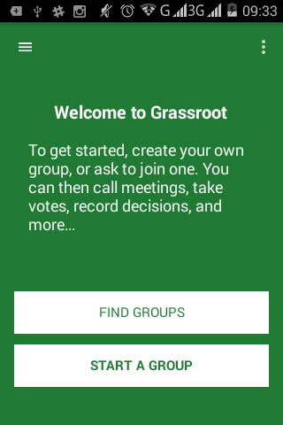 Grassroot for Android- screenshot