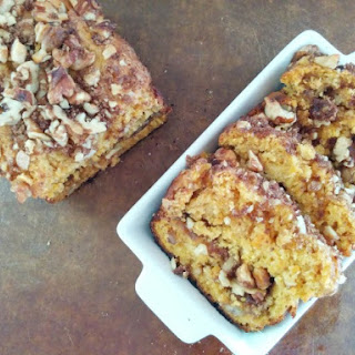 Pumpkin Walnut Loaf Cinnamon Streusel