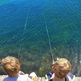 Gone Fishin by Trish Beukers - Babies & Children Children Candids