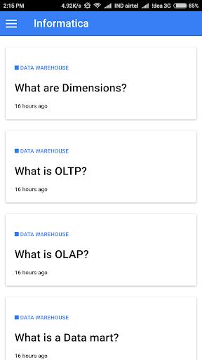 Informatica & DWH Questions 1.0.0 screenshots 2