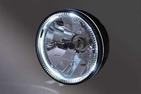 5 3/4-tums Skyline framlyse med LED-ring svart