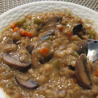 Slow Cooker Mushroom-Barley Soup.