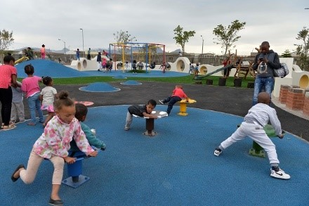 Children at Seawinds Smart Park when it was opened on Heritage Day in September 2017