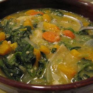 Curry Winter Squash and Lentil Soup.