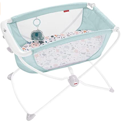 4. Fisher-Price Rock with Me Bassinet, Blue