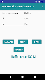 Drone Buffer Area Calculator - náhled