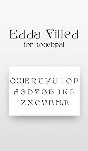 Free Edda Filled Cool Font