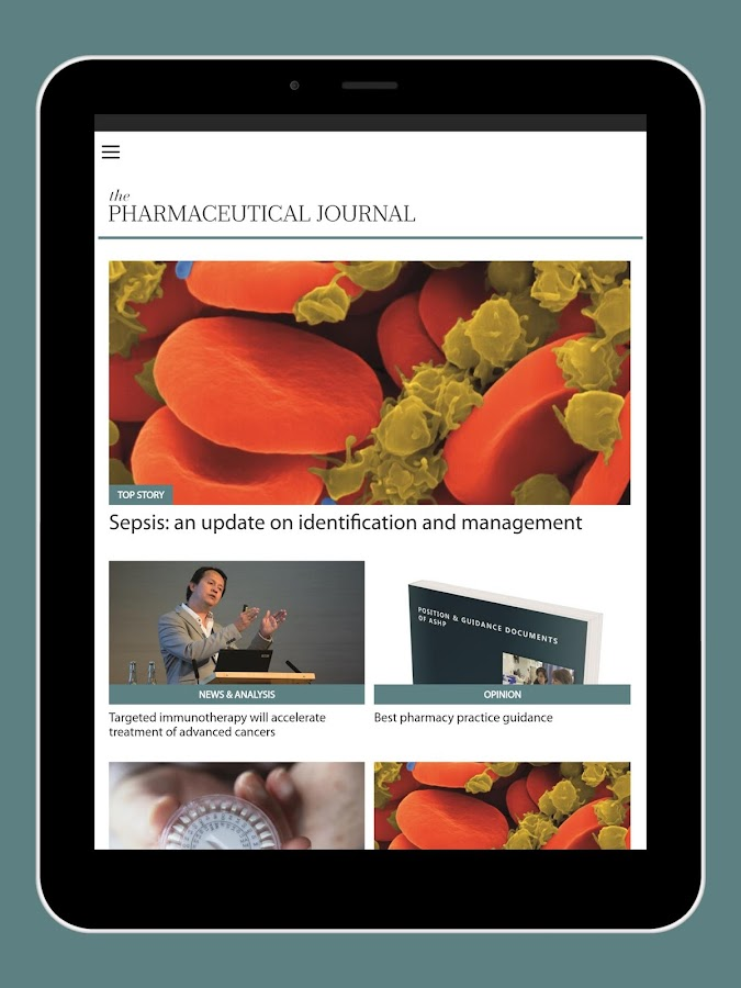 Pharmaceutical Journal- screenshot