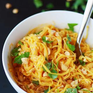 Spaghetti Squash Peanut Noodles Recipe