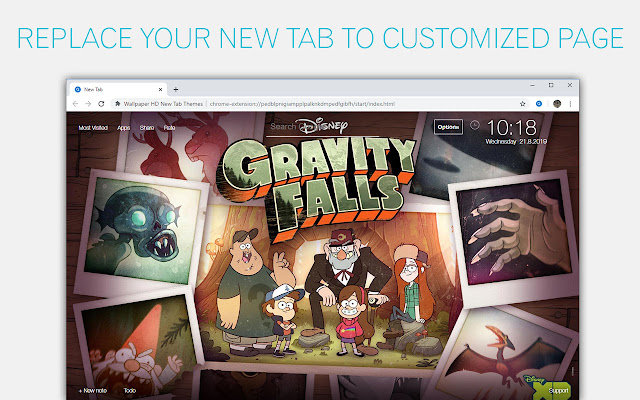 Gravity Falls Custom New Tab by freeaddon.com