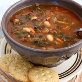 Crockpot Vegetable & White Bean Soup.