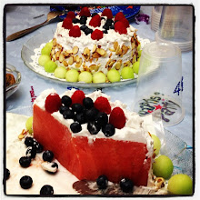 Photo: Watermelon birthday cakes from my Romanian friends #intercer #cake #cakes #water #melon #watermelon #sweet #sweets #fruit #fruits #almonds #blueberry #grapes #birthday #party #beautiful #pretty #tasty #friends - via Instagram, http://instagram.com/p/eBXM2lpfmu/