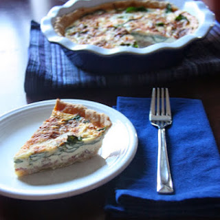 Spinach, Bacon and Gruyere Quiche