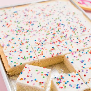 Vanilla Sheet Cake with Sprinkles Recipe