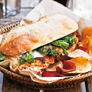 Philly-Style Chicken Cutlet Sandwich.