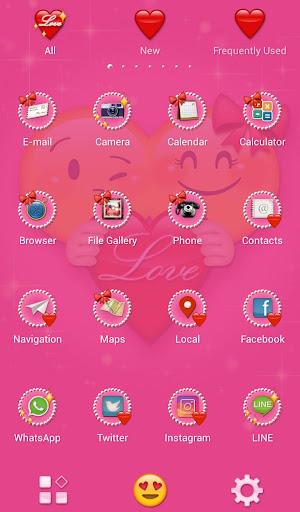 Cute Theme Emoji Love 1.0.0 Windows u7528 3