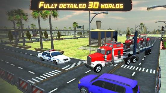 Highway Cargo Truck Transport Simulator Ekran Görüntüsü