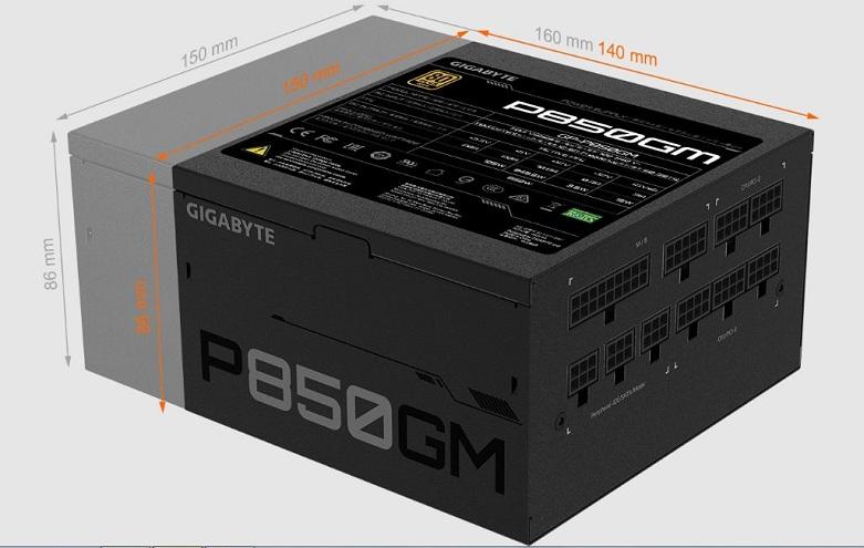 Power Gigabyte GP-P850GM 850W 80 Plus Gold Modular | Thiết kế nhỏ gọn hiện đại