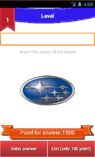 Скриншот Логотипы Викторина Автомобили