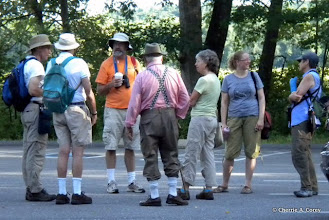 Photo: Monthly walkers gather, 7.25.10
