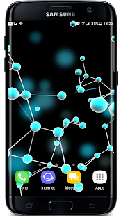 Plexus Particles 3D Live Wallpaper Screenshot