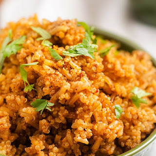 Slow Cooker Mexican Quinoa & Rice.
