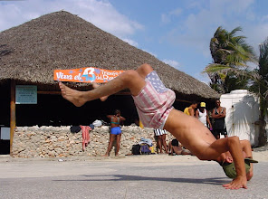 Photo: boy doing street performance, cuba. Tracey Eaton photo