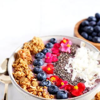 WholeMe + Coconut Blueberry Smoothie Bowl.
