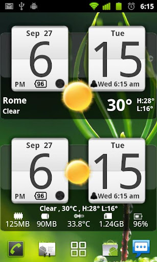 Sense Analog Clock Widget screenshot 2