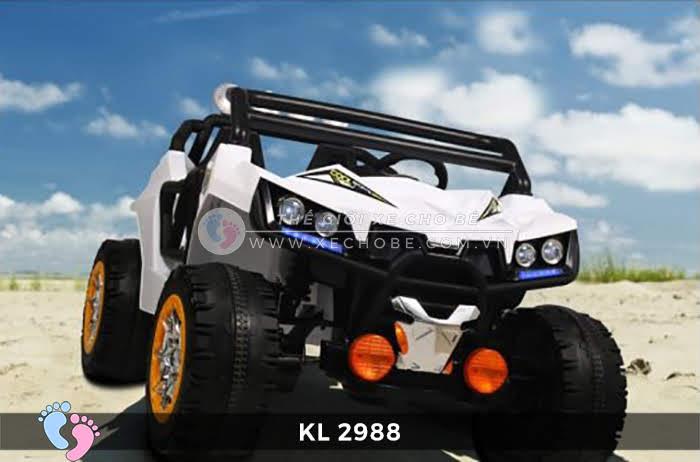 Xe ô tô điện đồ chơi trẻ em KL-2988 ghế da 4