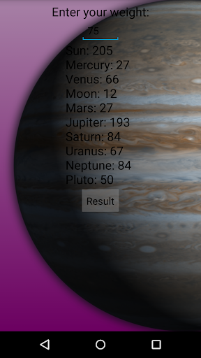 Weight Calculator on planets