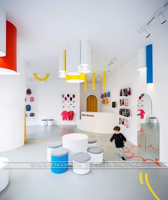 thiết kế shop giày dép trẻ Little Stories 5