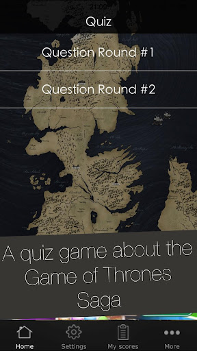 Quiz App for Game of Thrones