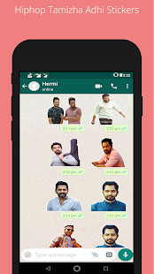 Hiphop Tamizha Stickers for Whatsapp - náhled