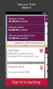 Westpac Mobile Banking - screenshot thumbnail