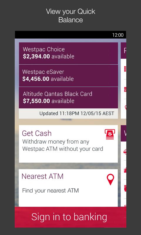 Westpac Mobile Banking- screenshot
