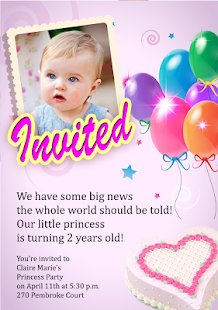 Birthday party invitation android apps on google play birthday party invitation screenshot thumbnail stopboris Gallery