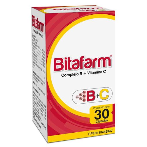 Complejo B Vitamina C Bitafarm 30 Capsulas  Bitafarm