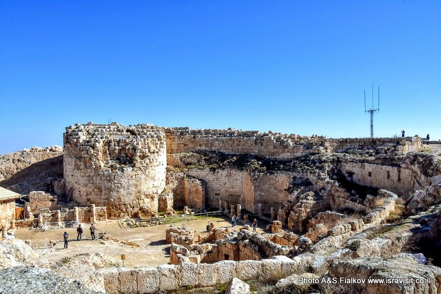 Древняя крепость Иродион в Израиле.