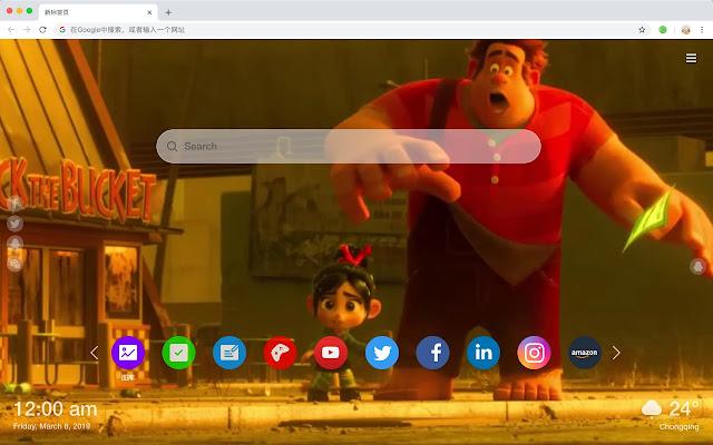 Wreck-It Ralph HD New Tab Movies Themes